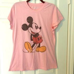 Mickey Mouse Tshirt Pink Short Sleeves XL Disney
